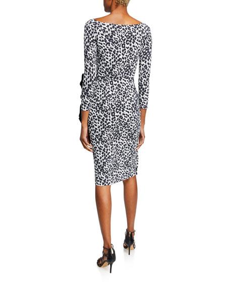 Chiara Boni La Petite Robe Zelma Side-Shirred Printed Dress