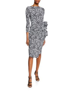 edbcb10f881 Chiara Boni La Petite Robe Zelma Side-Shirred Printed Dress