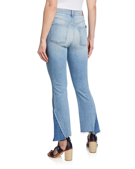 7 For All Mankind High Waist Slim Kick Cropped Jeans