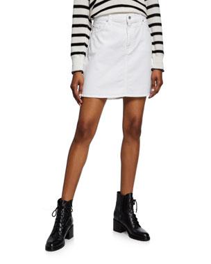 551e93a5c 7 for all mankind Stretch-Cotton Denim Mini Skirt