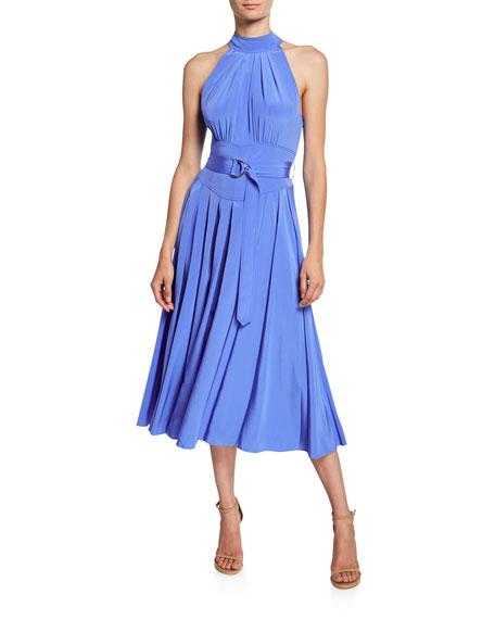 Diane von Furstenberg Nicola Silk Midi Halter Dress