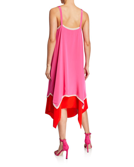 Diane von Furstenberg Wren Tiered Scarf Dress