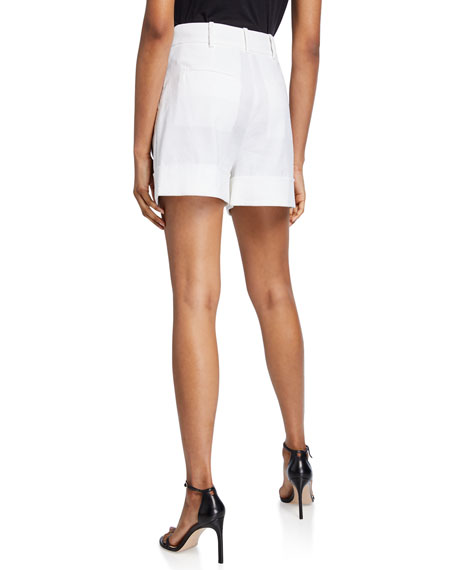 Diane von Furstenberg Shiana Cuffed Linen Shorts