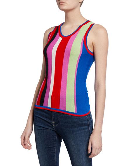Diane von Furstenberg Carolina Block-Stripe Knit Tank Top