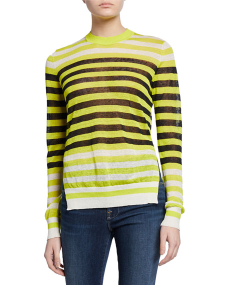 Image 1 of 2: Diane von Furstenberg Kayla Striped Crewneck Sweater