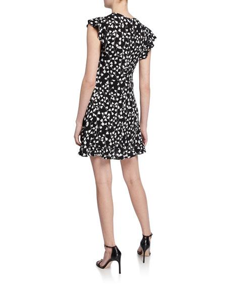 Diane von Furstenberg Krona Printed Mini Ruffle Dress