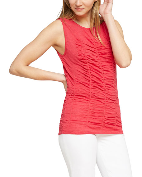 NIC+ZOE Plus Size Ruched Sleeveless Sweater Top