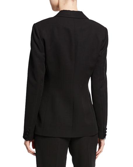 St. John Collection Tuxedo Jacket with Duchess Satin Lapel