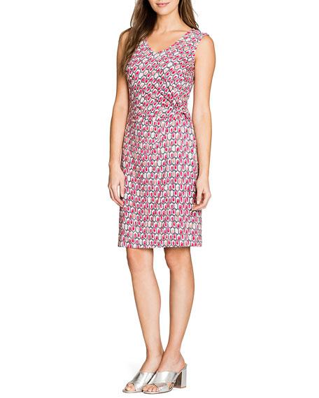 NIC+ZOE Bright Stone V-Neck Sleeveless Dress with Twist Detail