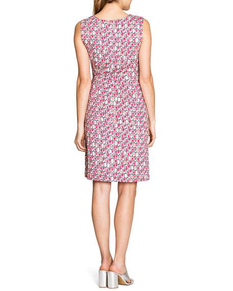 NIC+ZOE Plus Size Bright-Stone Printed Twist Knit Sleeveless Dress
