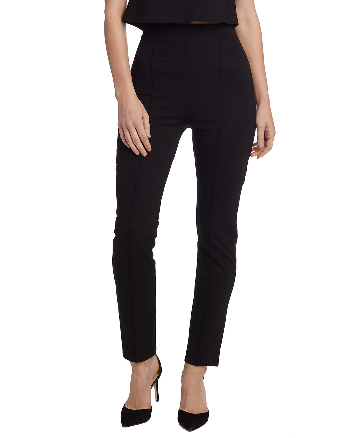 aee055c04 High-Waist Slim Leg Ponte Pants
