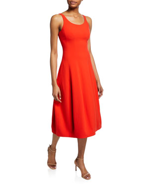 e60c818f3b5f Halston Heritage Scoop-Neck Sleeveless Fit-&-Flare Midi Dress