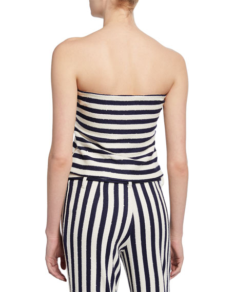 Image 2 of 2: Ava Striped Tube Top