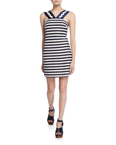 Marie Striped Sleeveless Mini Dress