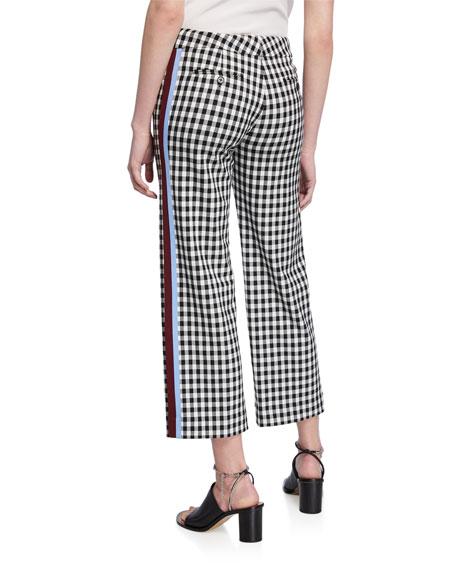 Derek Lam 10 Crosby Straight-Leg Trousers with Tuxedo Stripes