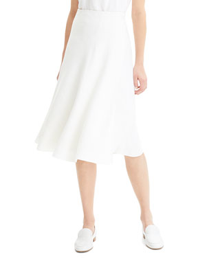 d8141d029172c5 Theory Faux-Wrap Herring Linen A-Line Skirt