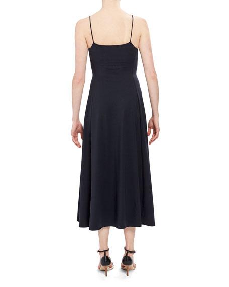 Theory Rubric Square-Neck Paneled Midi Tank Dress