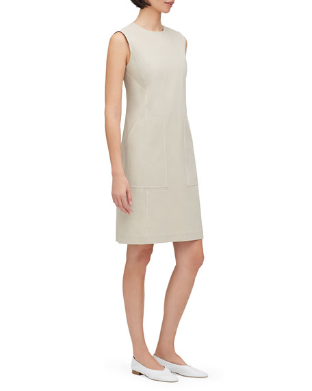 Lafayette 148 New York Giovanetta Sleeveless Fundamental Bi-Stretch Shift Dress