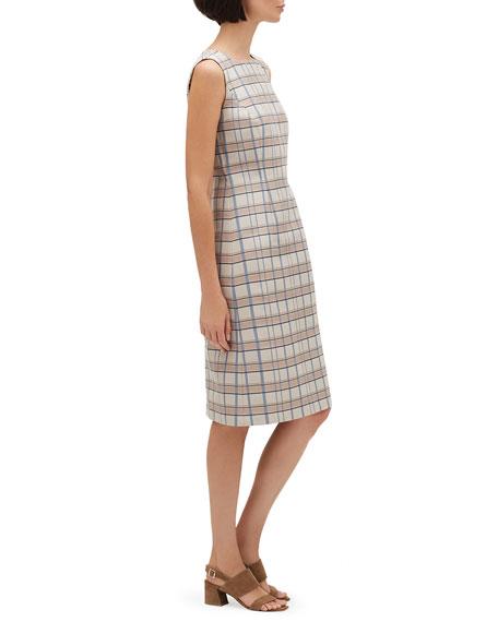 Lafayette 148 New York Jojo Filmore Plaid Sleeveless Jacquard Dress