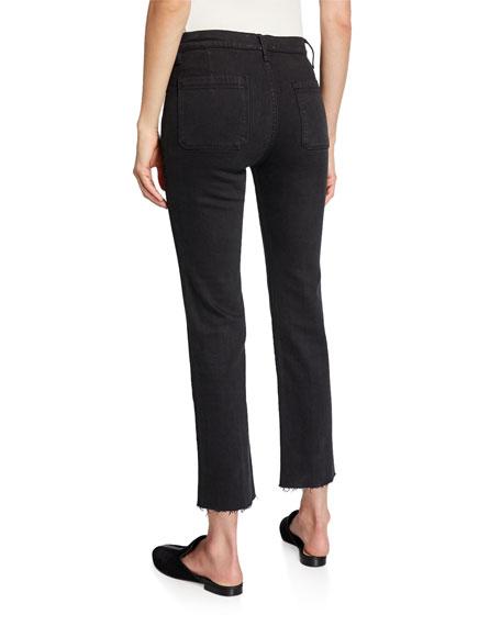FRAME Le Bardot Straight Raw-Edge Jeans