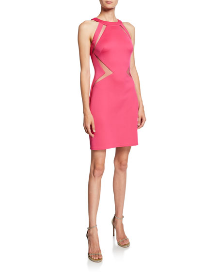 SHO Cutout Neoprene Halter Dress