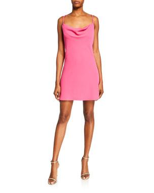 1595b39d Jay Godfrey Devon Cowl-Neck Strappy-Back Mini Dress
