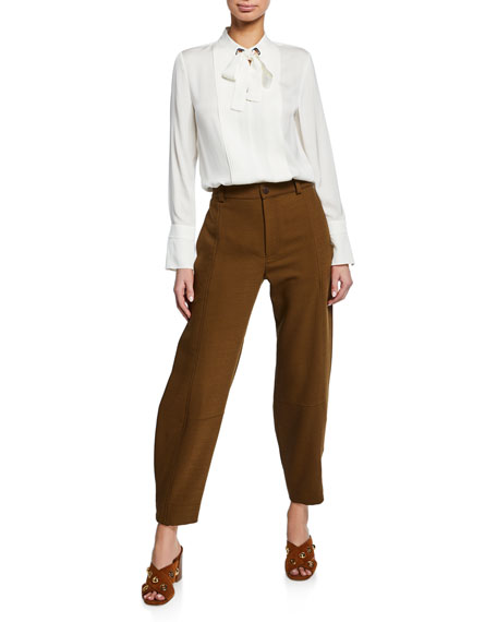 See by Chloe High-Rise Ankle Pants