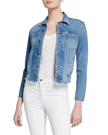 L'Agence Janelle Slim Raw-Edge Jacket