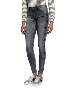 36037cf27fafd3 Black Orchid Gisele High-Rise Super Skinny Jeans with Stars