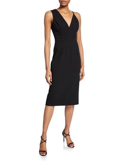 Dress The Population Erika Sleeveless Asymmetric Dress