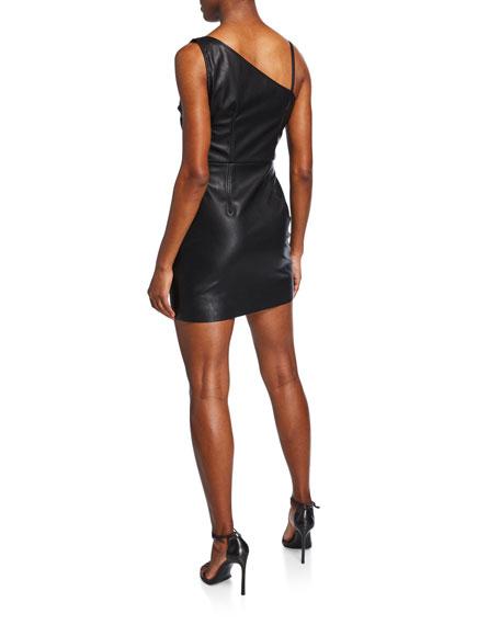 PINKO Faux-Leather Mini Tank Dress