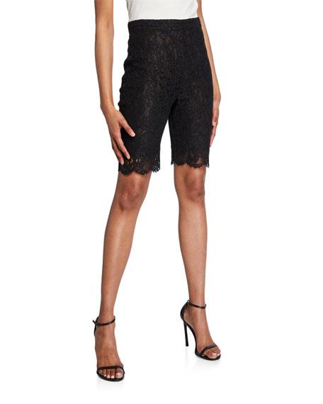 PINKO Lace Biker Shorts