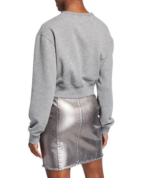 PINKO Embellished Crewneck Sweatshirt w/ Cutout