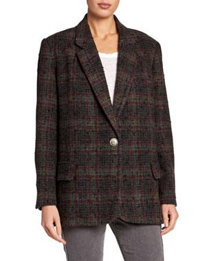 a4f9c1fa26 Etoile Isabel Marant Korix Single-Breasted Check Jacket
