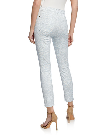Jen7 by 7 for All Mankind Leopard-Print High-Rise Ankle Skinny Jeans