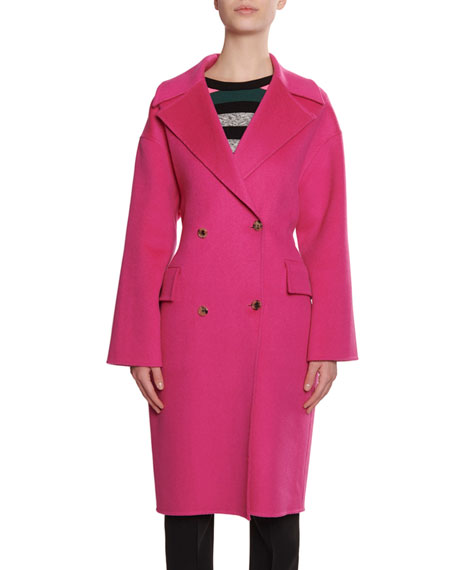 Kenzo Wool/Cashmere Belted Cocoon Trench Coat