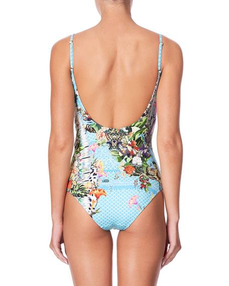 Camilla Printed Round-Neck One-Piece Swimsuit