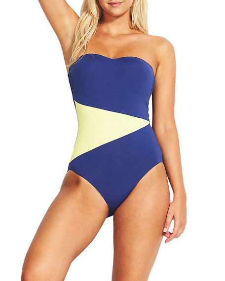 Seafolly Bandeau Maillot One-Piece Swimsuit - DD Cup