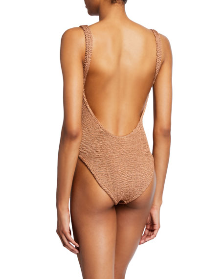 Hunza G Isolde Square-Neck High-Leg One-Piece Swimsuit