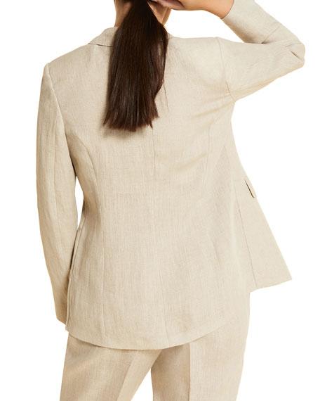 Marina Rinaldi Plus Size Castano One-Button Cutaway Jacket