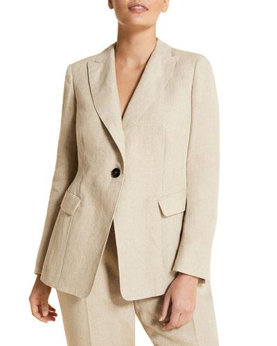 Plus Size Castano One-Button Cutaway Jacket