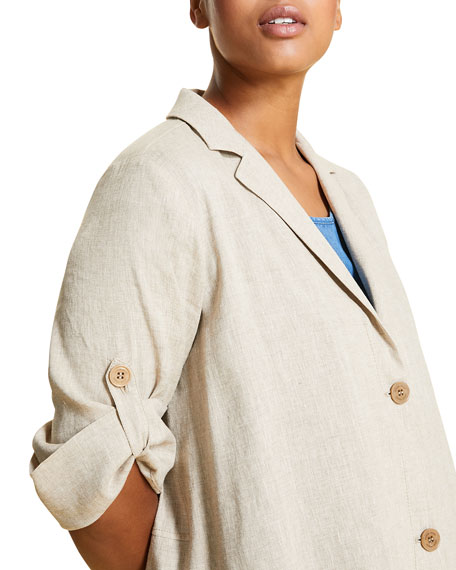 Marina Rinaldi Plus Size Catone Two-Button Jacket