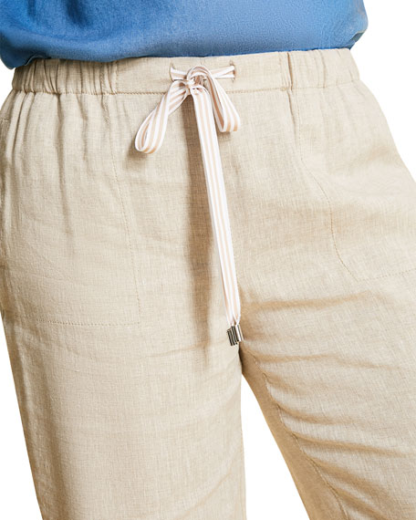 Marina Rinaldi Plus Size Responso Wide-Leg Drawstring Pants