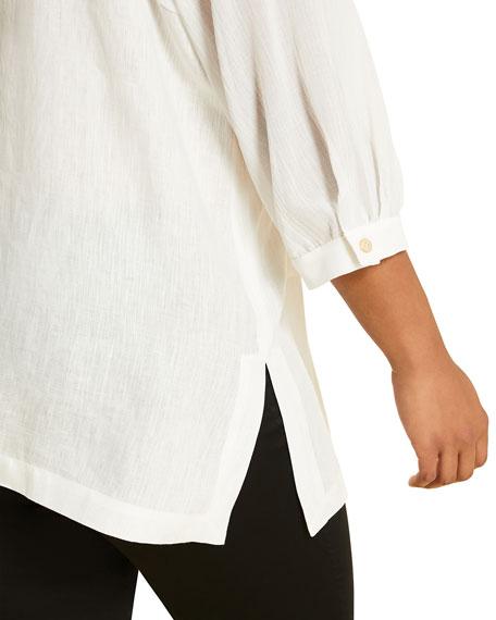 Marina Rinaldi Plus Size Fiacre Button-Front 3/4-Sleeve Top