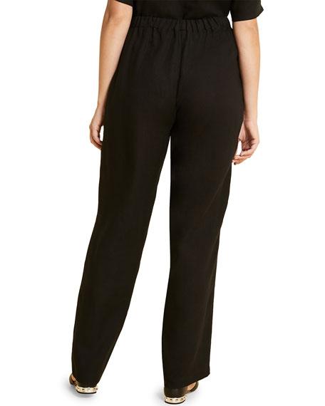 Marina Rinaldi Plus Size Rendere High-Rise Wide-Leg Drawstring Pants