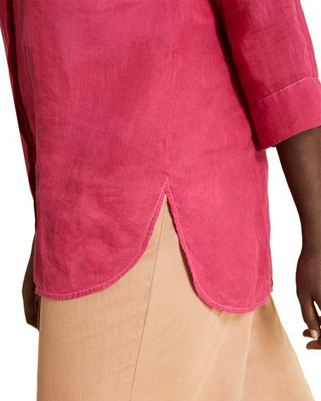 Marina Rinaldi Fuiume 3/4-Sleeve Button-Front Top