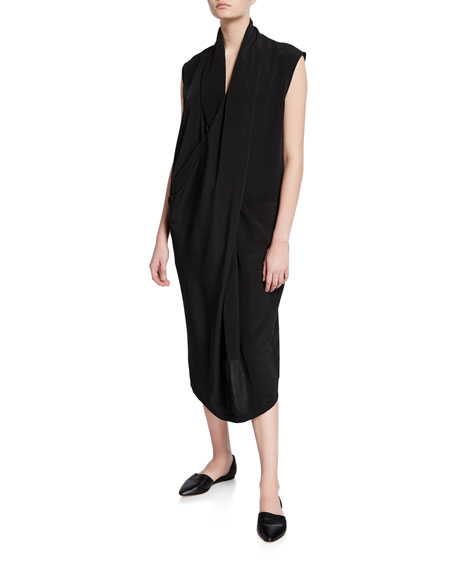 DUBGEE by Whoopi Plus Size Cowl-Neck Sleeveless Overlap Dress