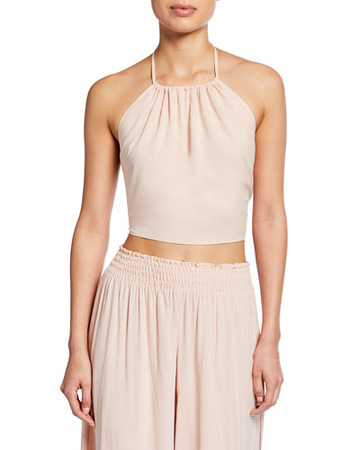 Denys Cropped Halter Top