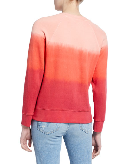 MOTHER The Square Ombre Raglan-Sleeve Sweatshirt