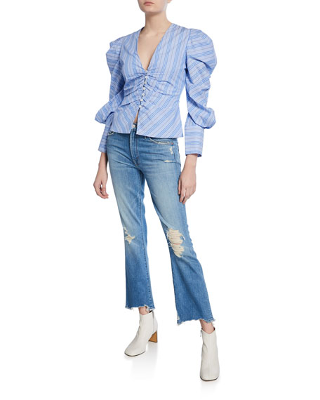 MOTHER The Insider Ankle Chew Straight Jeans